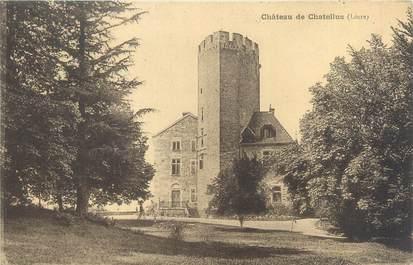 """CPA FRANCE 42 """"Château de Chatellus"""""""