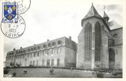 """CPSM FRANCE 42 """"Ambierle, l'église et le couvent"""""""