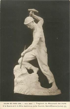 """CPA FRANCE 42 """"Saint Etienne, salon de Paris 1919, fragment du monument des morts """""""