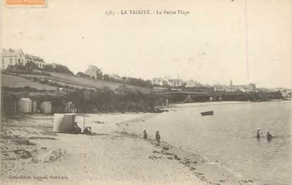"""CPA FRANCE 56 """"La Trinité, la petite plage"""""""