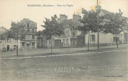 "CPA FRANCE 56 ""Ploermel, place de l'église"""