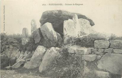 "CPA FRANCE 56 ""Plouharnel, dolmen de Kergavat"""