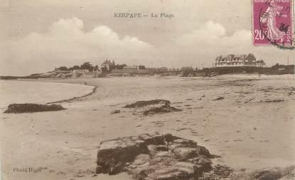 """CPA FRANCE 56 """"Kerpape, la plage"""""""