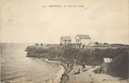 "CPA FRANCE 56 ""Kerhostin, un coin de la plage"""