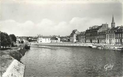 """CPSM FRANCE 56 """"Pontivy, quai de Presbourg sur le Blavet"""""""