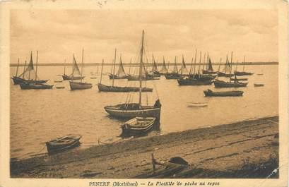 """CPA FRANCE 56 """"Penerf, la flotille de pêche au repos"""""""