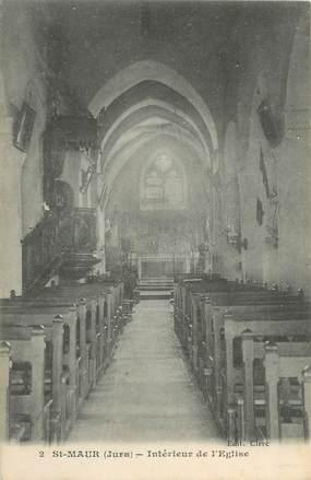 """CPA FRANCE 39 """"Saint Maur, intérieur de l'église"""""""