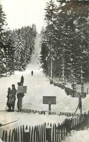 """CPSM FRANCE 39 """"Les Rousses, la forêt et le monte pente des Tuffes"""" / SKI"""