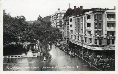 """/ CPSM FRANCE 74 """"Annecy, pont Albert Lebrun et Canal du Vassé"""""""