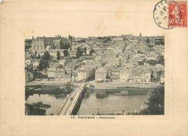 """CPA PANORAMIQUE FRANCE 86 """"Poitiers, panorama"""""""