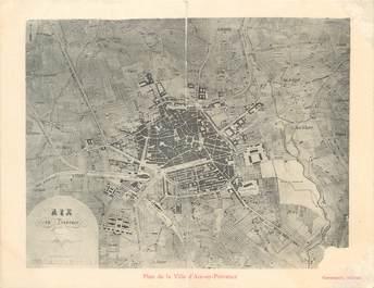 """CPA FRANCE 13 """"Plan de la ville d'Aix en Provence"""" / CARTE GEOGRAPHIQUE"""