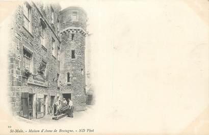 """CPA FRANCE 35 """"Saint Malo, maison d'Anne de Bretagne"""""""