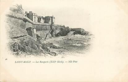 """CPA FRANCE 35 """"Saint Malo, les remparts"""""""