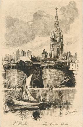"""CPA FRANCE 35 """"Saint Malo, la grande porte"""""""
