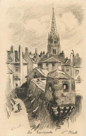 """CPA FRANCE 35 """"Saint Malo, les remparts """""""