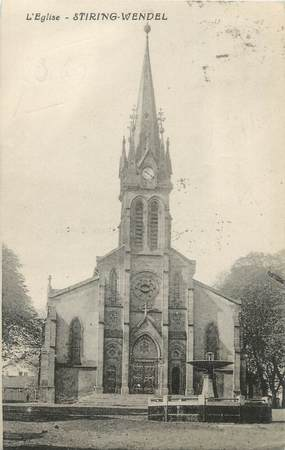 "CPA FRANCE 57 ""Stiring Wendel, l'église"""