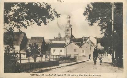 "CPAFRANCE 57 ""Puttelange les Farschwiller, rue Camille Massing"""