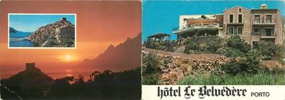 """CPSM LIVRET FRANCE 20 """"Corse, Ota, hôtel le Belvedère"""""""
