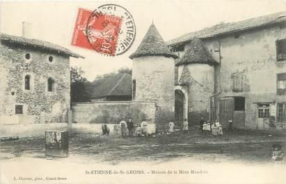 """CPA FRANCE 38 """"Saint Etienne de Saint Geoirs, maison de la mère Mandrin"""""""
