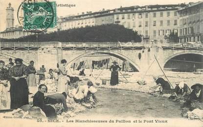 """CPA FRANCE 06 """"Nice, les blanchisseuses du paillon et le Pont vieux"""""""