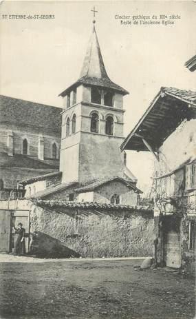 """CPA FRANCE 38 """"Saint Etienne de Saint Geoirs, clocher gothique"""""""