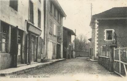 """CPA FRANCE 38 """"Sillans, rue du château"""""""