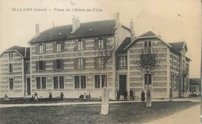 """CPA FRANCE 38 """"Sillans, place de l'hôtel de ville"""""""