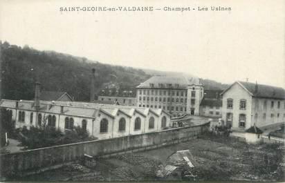 """CPA FRANCE 38 """"Saint Geoire en Valdaine, Champet, les usines"""""""