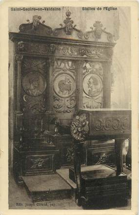 """CPA FRANCE 38 """"Saint Geoire en Valdaine, Stalles de l'église"""""""