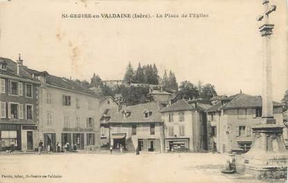"""CPA FRANCE 38 """"Saint Geoire en Valdaine, la place de l'église"""""""