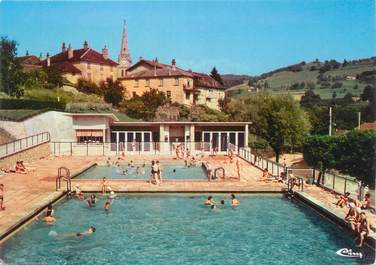 "CPSM FRANCE 38 ""Saint Geoire en Valdaine, la piscine"""
