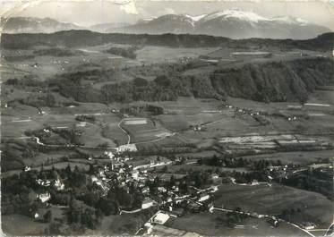 """CPSM FRANCE 38 """"Saint Geoire en Valdaine, vue générale aérienne et les montagnes de Chartreuse"""""""