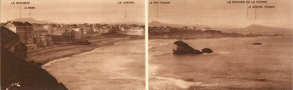 "CPA PANORAMIQUE FRANCE 64 ""Biarritz"""