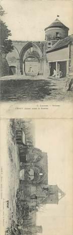"""CPA LIVRET FRANCE 02 """"Crouy avant et après la guerre"""""""