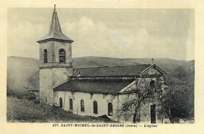 """CPSM FRANCE 38 """"Saint Michel de Saint Geoirs, l'église"""""""