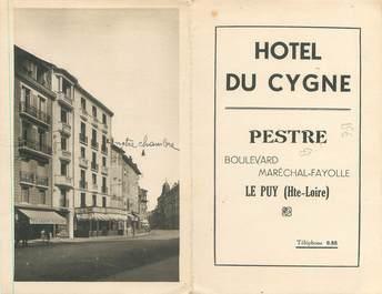 "CPA LIVRET FRANCE 43 ""Le Puy, hôtel du Cygne"""
