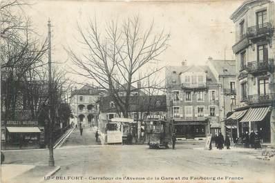 "CPA FRANCE 90 ""Belfort, carrefour de l'avenue de la gare"""