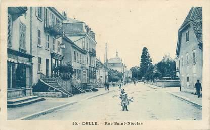 """CPA FRANCE 90 """"Delle, rue Saint Nicolas"""""""