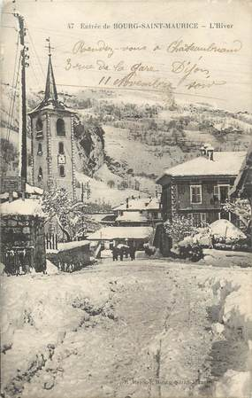 """CPA FRANCE 73 """"Entrée de Bourg Saint Maurice"""""""