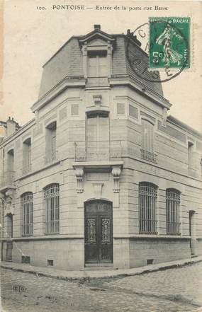 """CPA FRANCE 95 """"Pontoise, entrée de la poste rue Basse"""""""