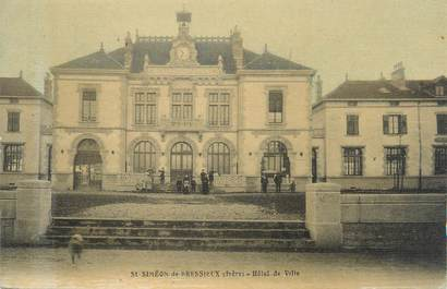 """CPA FRANCE 38 """"Saint Simeon de Bréssieux, hôtel de ville"""""""