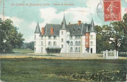 """CPA FRANCE 38 """"Saint Simeon de Bréssieux, château de Gauttefred"""""""