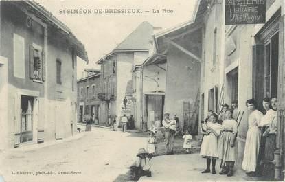 """CPA FRANCE 38 """"Saint Simeon de Bréssieux, la rue"""""""