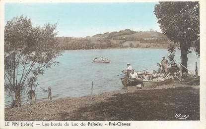 """CPA FRANCE 38 """"Montferrat, le Pin, le lac de Paladru"""""""
