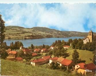 """CPSM FRANCE 38 """"Paladru, échappée sur le lac"""""""