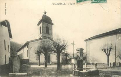 "CPA FRANCE 38 ""Chatonnay, l'église"""