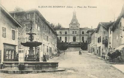 """CPA FRANCE 38 """"Saint Jean de Bournay, place des Terreaux"""""""