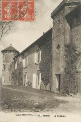 """CPA FRANCE 38 """"Villeneuve de Marc, le château """""""