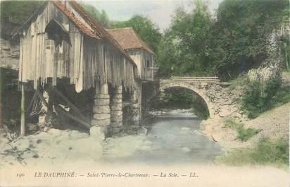 """CPA FRANCE 38 """"Saint Pierre de Chartreuse, la Scie"""""""