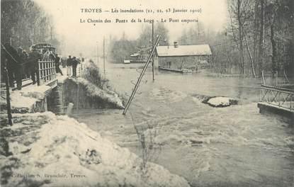 """CPA FRANCE 10 """"Troyes, le chemin des Ponts de la Loge"""" / INONDATION"""